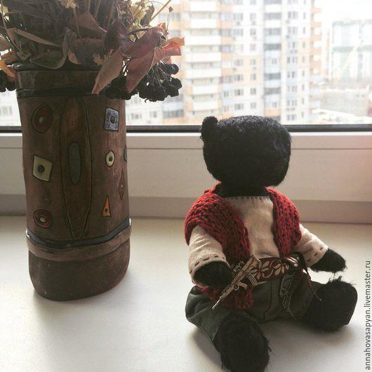 Мишки Тедди ручной работы. Ярмарка Мастеров - ручная работа. Купить Карабахский МЕДВЕДЬ!. Handmade. Медведь, мужчина, воин, мохер