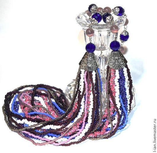 """Колье, бусы ручной работы. Ярмарка Мастеров - ручная работа. Купить Колье """"Violetta"""". Handmade. Фиолетовый, бисерные украшения"""