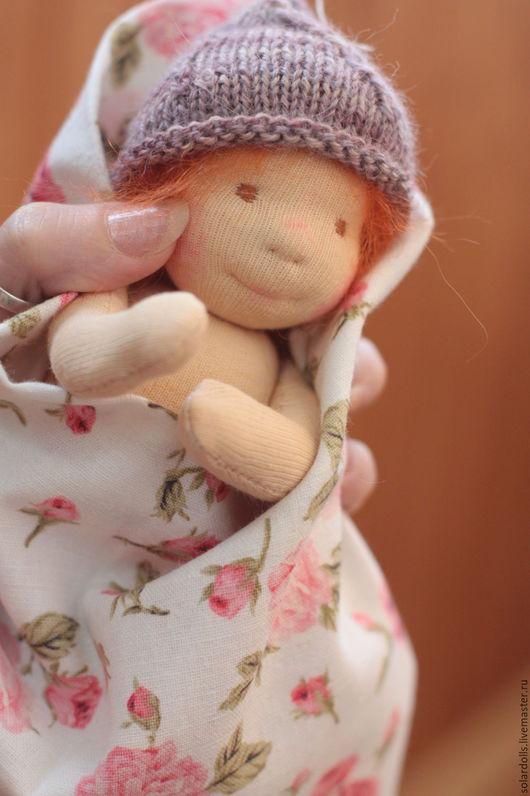 Полиночка 17 см. Вальдорфская кукла.Julia Solarrain (SolarDolls) Ярмарка Мастеров