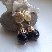 Украшения handmade. Livemaster - original item Gold plated earrings