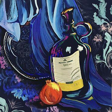 Картины и панно ручной работы. Ярмарка Мастеров - ручная работа ЯРКИЙ НАТЮРМОРТ. Handmade.