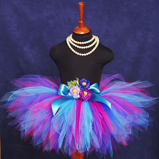 """Одежда для девочек, ручной работы. Ярмарка Мастеров - ручная работа. Купить """"Фея черничной поляны"""" пышная юбка-пачка из фатина. Handmade."""