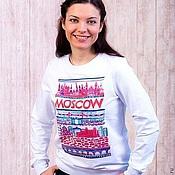 Одежда handmade. Livemaster - original item Sweatshirt Unisex sweatshirt with print MOSCOW. Handmade.