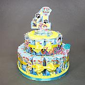 Сувениры и подарки ручной работы. Ярмарка Мастеров - ручная работа Торт из соков и Барни в школу садик для девочки мальчика. Handmade.
