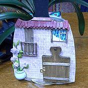 """Картины и панно ручной работы. Ярмарка Мастеров - ручная работа """"Дверь к счастью! Коттедж.""""  - панно миниатюра. Handmade."""