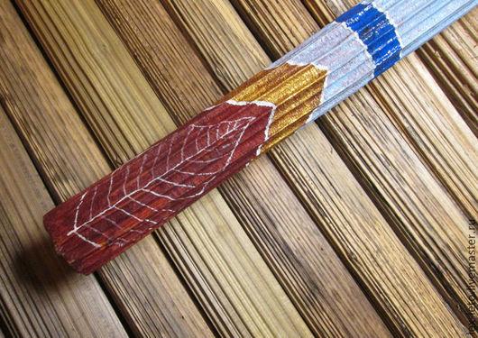 """Медитация ручной работы. Ярмарка Мастеров - ручная работа. Купить Флейта дождя """"Осенний лист"""". Handmade. Рыжий, спокойствие, рейнстик"""