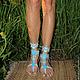 Обувь ручной работы. Magiс shoes - макраме бохо обувь с бирюзой. Plumarii (Софья). Ярмарка Мастеров. Босоножки, сандалии, профилактика