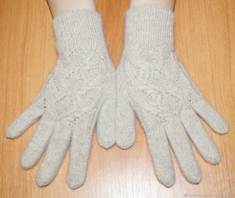 Soft, warm merino gloves with mohair, Gloves, Orenburg,  Фото №1