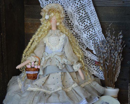 Куклы Тильды ручной работы. Ярмарка Мастеров - ручная работа. Купить Джейн-милая и нежная барышня. Handmade. Голубой, розы