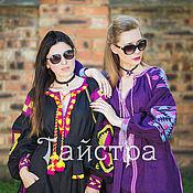 Одежда ручной работы. Ярмарка Мастеров - ручная работа Платье модное, вышитое, бохо, этно стиль  Vita Kin,Bohemian. Handmade.