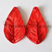 Материалы для творчества handmade. Livemaster - original item Silicone mold (Weiner) leaf sunflower,bilateral. Handmade.