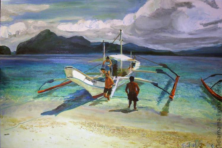 Legar Navegando (Arrival) the artwork by Olga Petrovskaya-Penjvraji