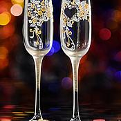 """Свадебный салон ручной работы. Ярмарка Мастеров - ручная работа Свадебные бокалы """"Orerio"""". Handmade."""