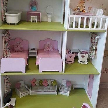 Куклы и игрушки ручной работы. Ярмарка Мастеров - ручная работа Кукольные домики: Текстиль. Handmade.