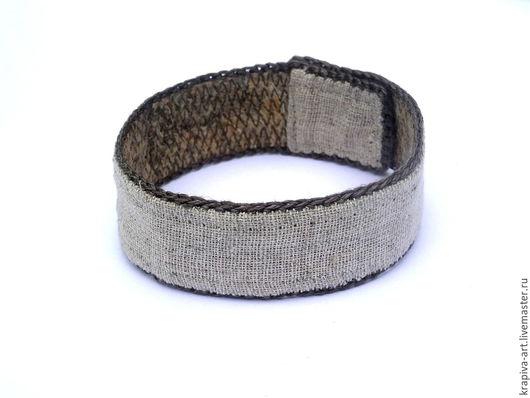Браслеты ручной работы. Ярмарка Мастеров - ручная работа. Купить мужской браслет из крапивных волокон. Handmade. Крапива, крапива двудомная
