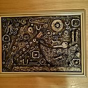Панно ручной работы. Ярмарка Мастеров - ручная работа Панно. Ассамбляж. Handmade.