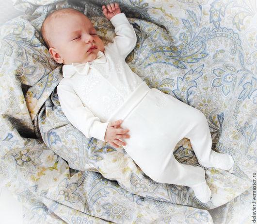 """Для новорожденных, ручной работы. Ярмарка Мастеров - ручная работа. Купить Комплект на выписку """"Аристократ"""". Handmade. Бежевый, на выписку, для малыша"""
