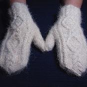 Аксессуары handmade. Livemaster - original item Women`s knitted mittens Japonic butterflies. Handmade.