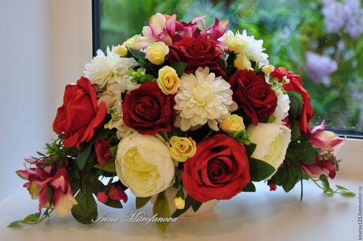 """Интерьерные композиции ручной работы. Ярмарка Мастеров - ручная работа. Купить """"Desire"""". Handmade. Ярко-красный, Декор, цветы"""