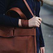 Украшения handmade. Livemaster - original item Bracelet leather in the three stripes in three turns. Handmade.