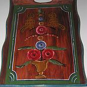 "Русский стиль handmade. Livemaster - original item Tray ""Siberian Owls"". Handmade."