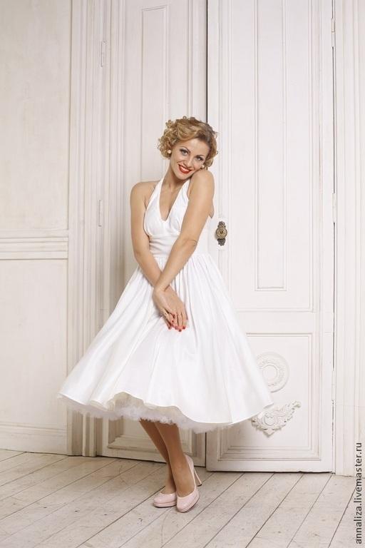 """Платья ручной работы. Ярмарка Мастеров - ручная работа. Купить Ретро платье в стиле 50-х """"Монро"""". Handmade. Монро"""