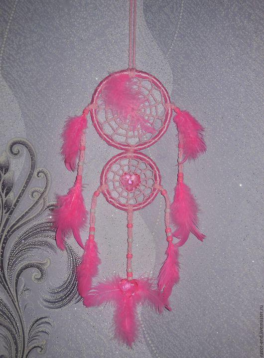 """Ловцы снов ручной работы. Ярмарка Мастеров - ручная работа. Купить Ловец снов """"Окрыленный любовью"""". Handmade. Розовый"""