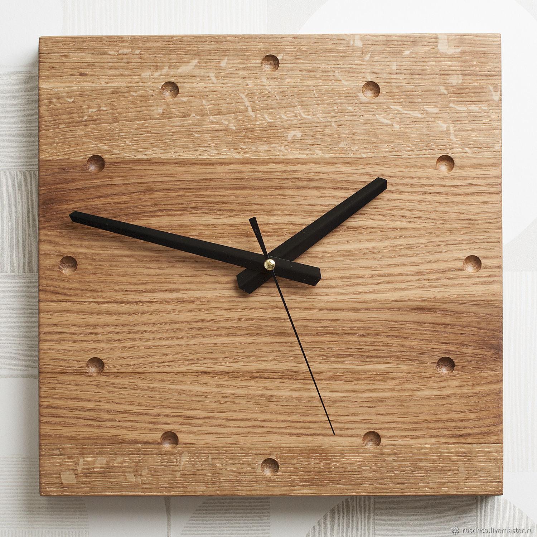 Часы настенные деревянные квадратные №42, Часы классические, Раменское,  Фото №1