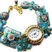 """Украшения ручной работы. Ярмарка Мастеров - ручная работа """"Сказка""""-22 наручные часы с бусинами клуазоне. Handmade."""