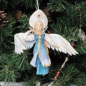 Сувениры и подарки handmade. Livemaster - original item Cotton Christmas tree toy Swan Princess. Handmade.