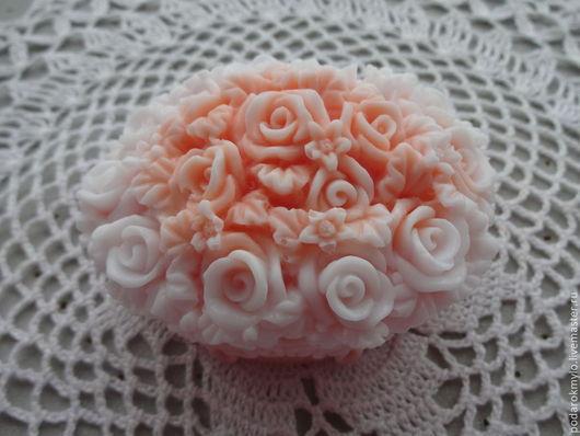 Мыло ручной работы. Ярмарка Мастеров - ручная работа. Купить Корзина с розами. Подарок на 8 марта.. Handmade. Розы