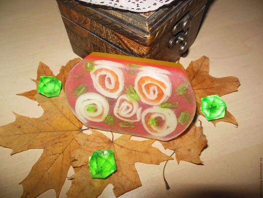 Мыло ручной работы. Ярмарка Мастеров - ручная работа. Купить Розовый завиток. Handmade. Коралловый, подарок на день рождения