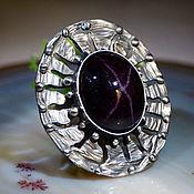 Rings handmade. Livemaster - original item Garnet, silver ring