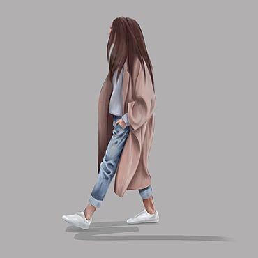 Дизайн и реклама ручной работы. Ярмарка Мастеров - ручная работа Fashion-иллюстрация. Растровая графика. Handmade.