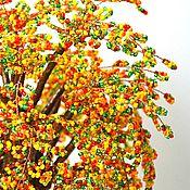 """Цветы и флористика ручной работы. Ярмарка Мастеров - ручная работа Дерево """"в красках лета"""" из бисера. Handmade."""