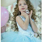 Платья ручной работы. Ярмарка Мастеров - ручная работа Платье Весна голубого цвета с вышивкой. Handmade.