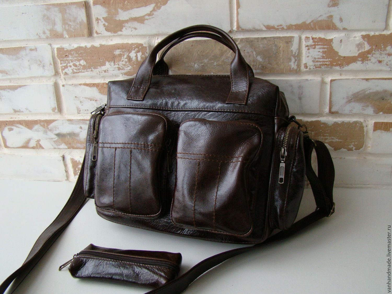 d3bd604b60ab Мужские сумки ручной работы. Ярмарка Мастеров - ручная работа. Купить Стильная  кожаная мужская сумка ...