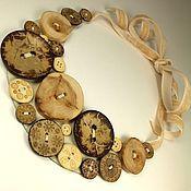 Украшения handmade. Livemaster - original item Button Square. Necklace. Handmade.