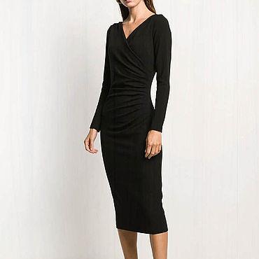 Одежда ручной работы. Ярмарка Мастеров - ручная работа Черное платье вечернее 770В. Handmade.