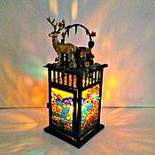 Для дома и интерьера handmade. Livemaster - original item Stained glass candle holder handmade autumn in the forest. Handmade.