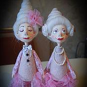 Куклы и игрушки ручной работы. Ярмарка Мастеров - ручная работа Фифочка и Зефирочка (повтор). Handmade.