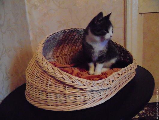 Аксессуары для кошек, ручной работы. Ярмарка Мастеров - ручная работа. Купить Плетёная лежанка из лозы. Handmade. Домик для кошки