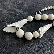 Украшения handmade. Livemaster - original item Chaika Necklace. Handmade porcelain and white coral. Handmade.