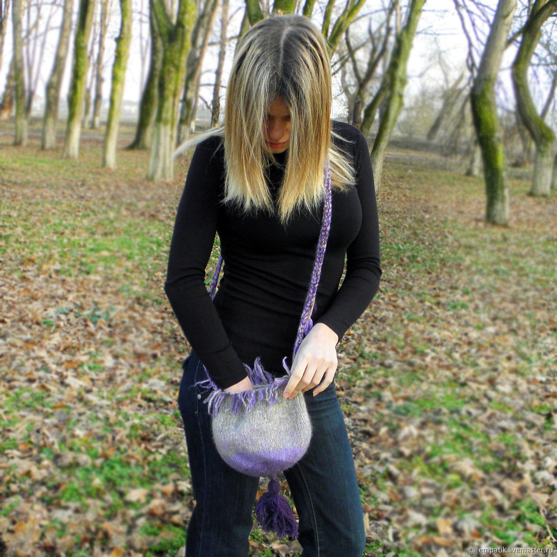 Торба лесной феи сумка вязаная валяная шерстяная
