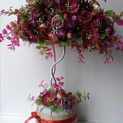 """Цветы и флористика ручной работы. Ярмарка Мастеров - ручная работа Топиарий """"Волшебная осень"""" Дерево Счастья. Handmade."""