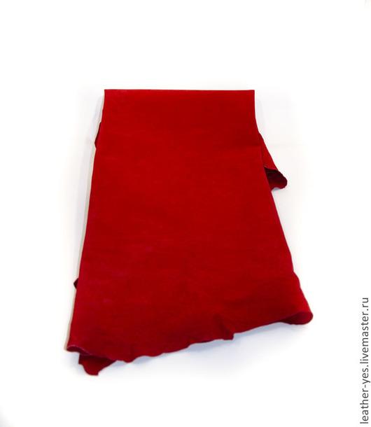 Другие виды рукоделия ручной работы. Ярмарка Мастеров - ручная работа. Купить Кожа натуральная, красная, E05. Handmade.