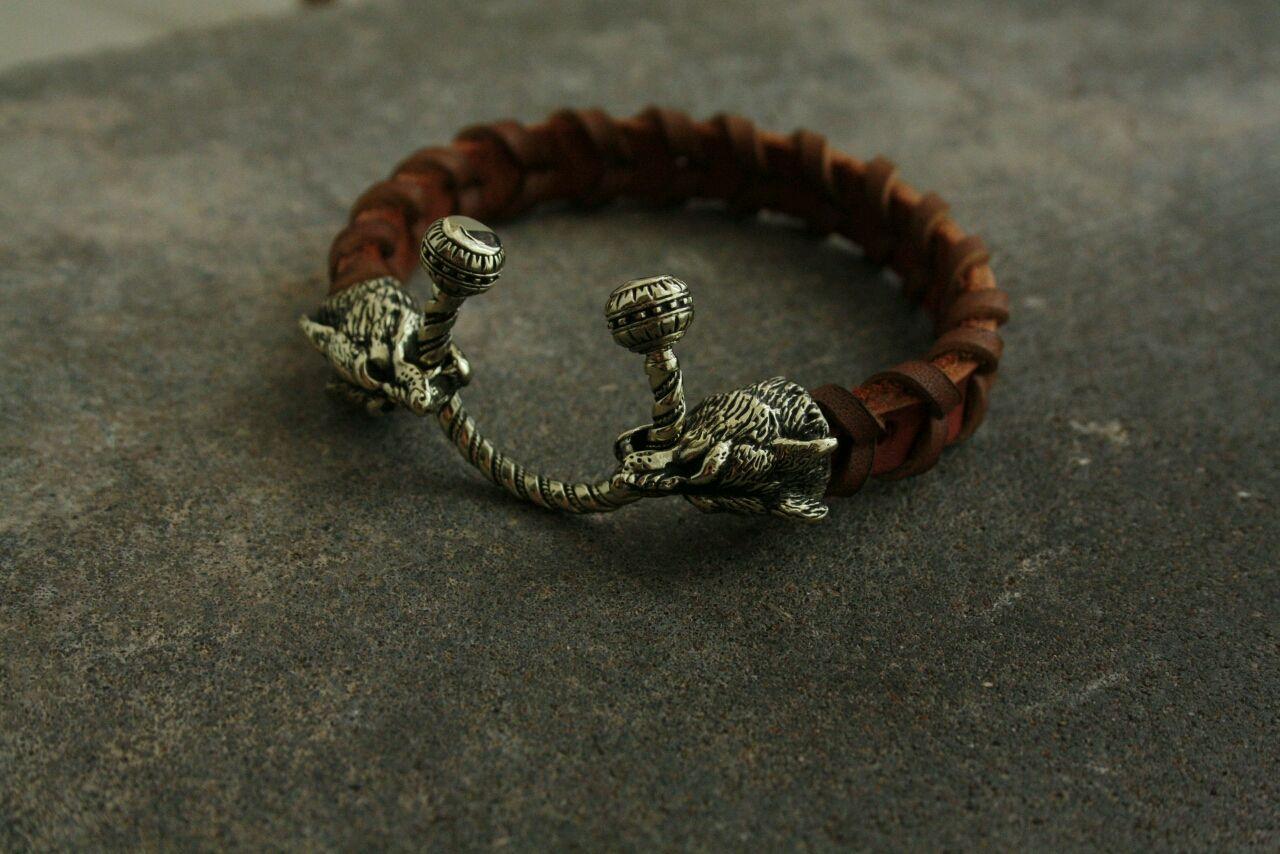 Bracelet made of genuine leather ,lynx, Bead bracelet, Volgograd,  Фото №1