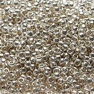 Materials for creativity handmade. Livemaster - original item 10gr seed Beads Toho 11/0 PF558 aluminium Japanese beads TOHO galvanized. Handmade.