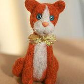 """Куклы и игрушки ручной работы. Ярмарка Мастеров - ручная работа Войлочная игрушка """"Рыжий кот"""". Handmade."""