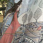 Аксессуары ручной работы. Ярмарка Мастеров - ручная работа Палантин женский Morning sun (арт. ks008-2). Handmade.